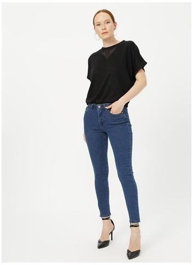 Fabrika Comfort Fabrika Comfort Normal Bel Düz Denim Indigo Kadın Pantolon İndigo